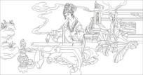 枇杷仙子雕刻图案
