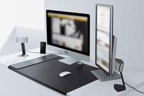 写实办公桌面矢量素材
