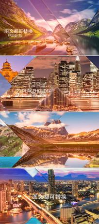 大气画面分割照片拼贴图文展示ae模板