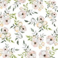 水彩花卉印花图案