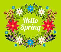 春天绿色餐厅壁画装饰画图案