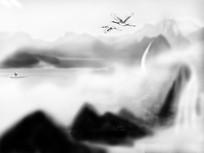 写意中国山水画插画
