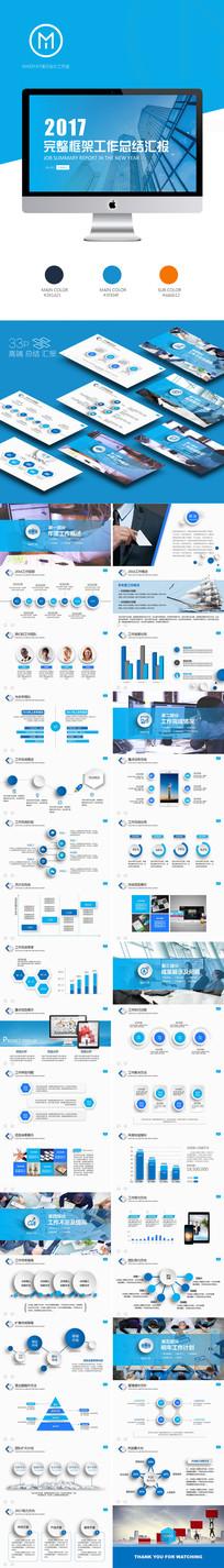 2017简约商务新年计划工作总结部门报告PPT