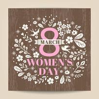 38国际妇女节卡封面矢量素材