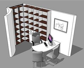 书房学习桌椅空间