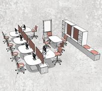 办公室多组合办公桌