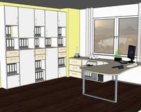办公室书房完整空间模型