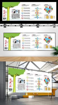 创意大树企业文化墙
