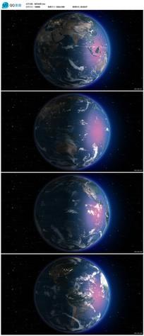 带透明通道高清旋转地球视频素材 mov