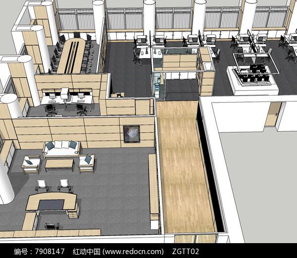 公司办公室会议室整体空间图片