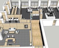 公司办公室会议室整体空间