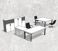 简约格局办公桌
