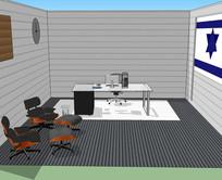 宽敞舒适办公空间模型