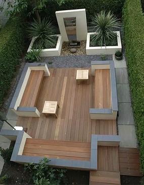 圆形景观座椅设计