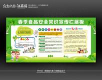 清新风食品安全常识宣传栏展板