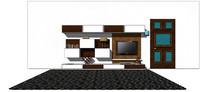 现代电视背景电视柜模型