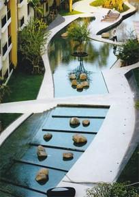 住宅景观曲线水景