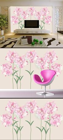创意现代粉色花朵电视背景墙