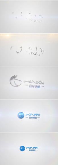 简洁划像logo展示