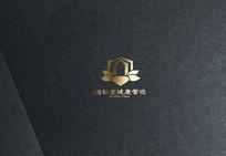 金色高端酒创意logo