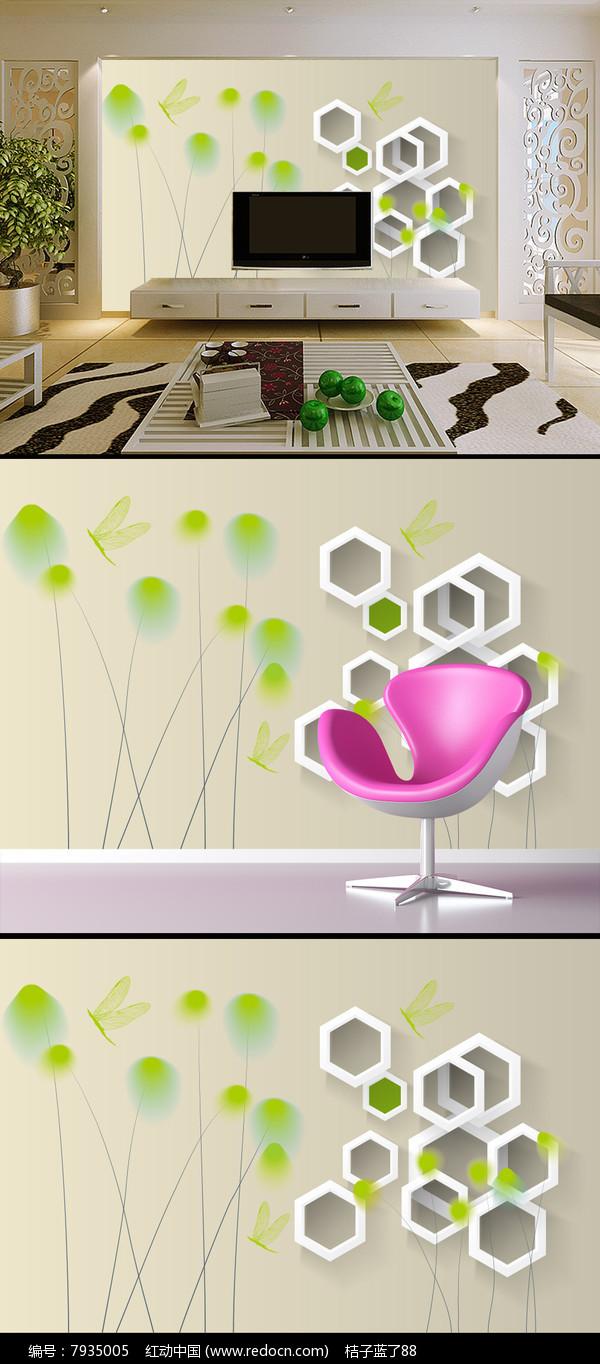 梦幻创意3D电视背景墙图片