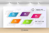 3D方块立体企业文化墙展板