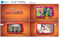 AECS6可爱圆形卡通婚礼视频