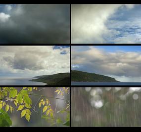 白云延时下雨视频素材 mp4