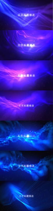 抽象粒子线条背景文字动画视频