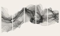 抽象水墨五联装饰画