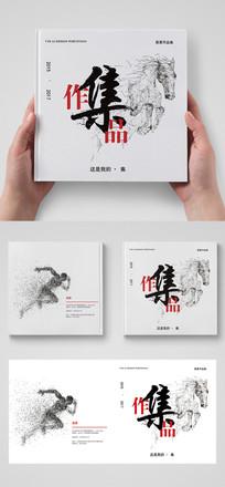 创意简洁毕业作品集画册封面设计PSD模板