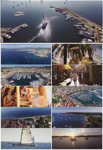 法国戛纳城市旅游大气宣传视频