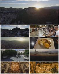 西班牙城市旅游大气宣传视频