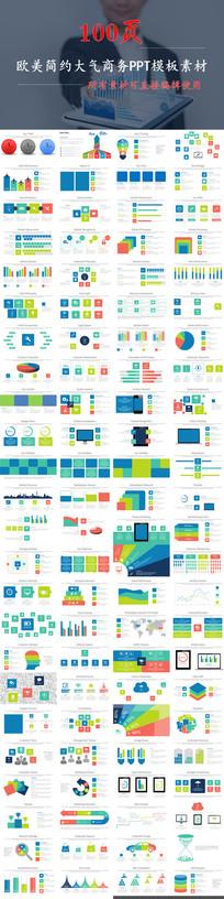 2017年终总结实用可编辑数据图表PPT模板