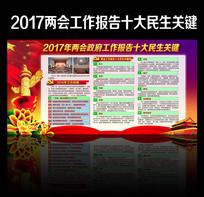 2017全国两会十大民生关键词展板
