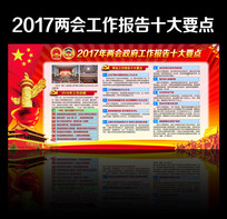 2017全国两会政府工作报告十大要点宣传栏