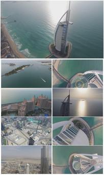 迪拜旅游宣传航拍大气视频