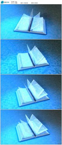 科技书籍翻页视频素材