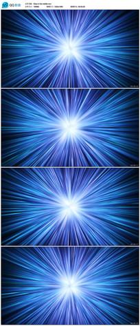 蓝色光芒舞台背景视频