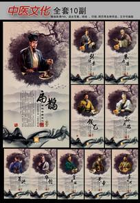 中国风古典中药文化古代医生展板挂图