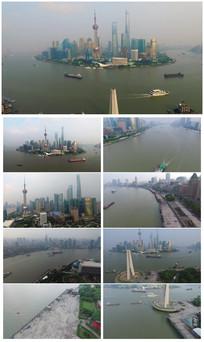 最新大气上海航拍视频素材