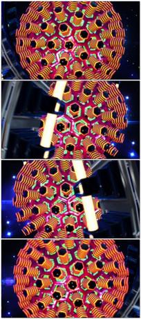 超赞3d立体动感灯光旋转变化大屏