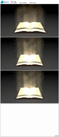 发光的魔法书视频
