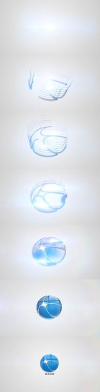 简洁企业logo光效叠加演绎