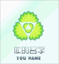 花店保健品店cdr原创叶子logo设计稿