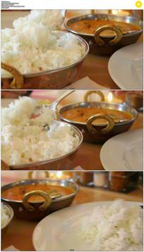 印度吃饭实拍视频素材