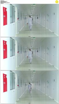 医院走廊实拍视频素材