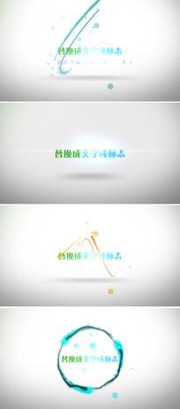 18个不同粒子动画企业logo展示ae模板