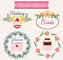 婚礼ppt设计装饰AI矢量素材