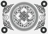 苗族染织图案无框画